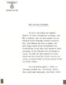 Hitler Privates Testament P.1