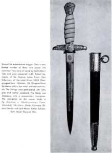 A total fantasy dagger put together with post-war parts. A totally non-extant piece.